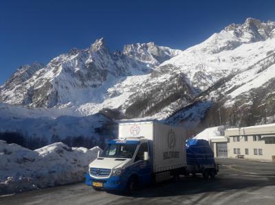 Transport met kleine truck
